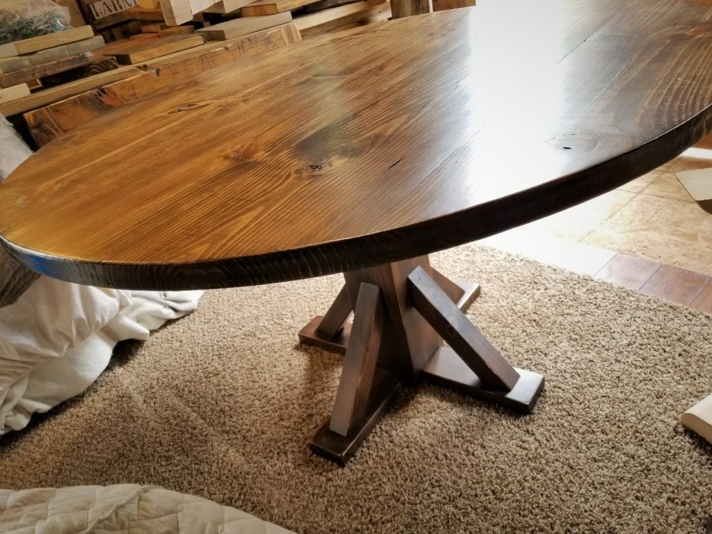 54in round espresso table