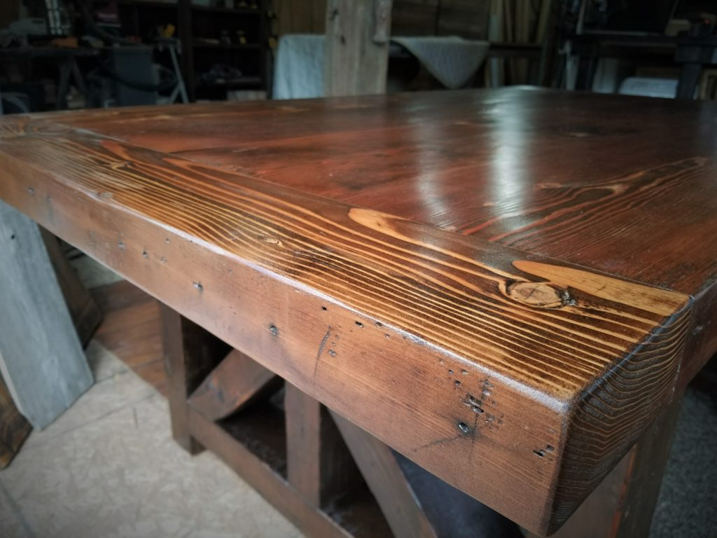 1941 Reclaimed Farm Table Breadboard close shot