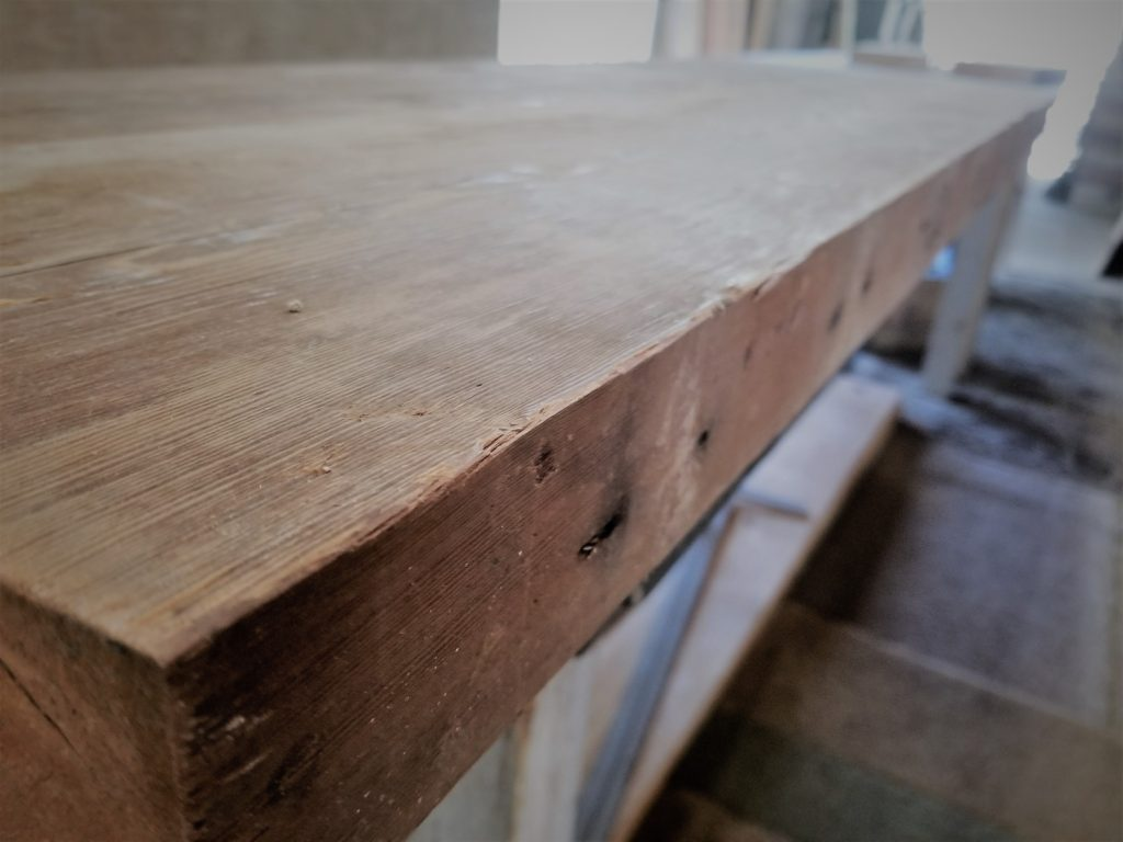 1941 Iowa barn wood with original nail holes to be used for a table top