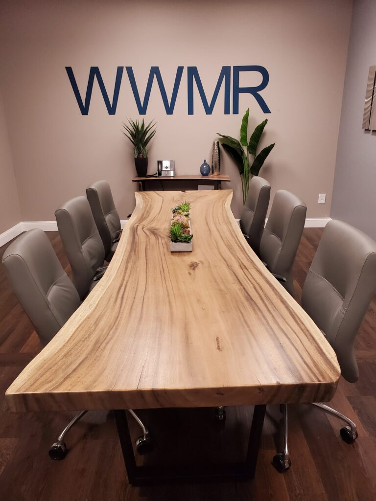 10ft live edge dining table conference table
